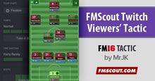 FMScout Twitch Viewers' FM16 Tactic