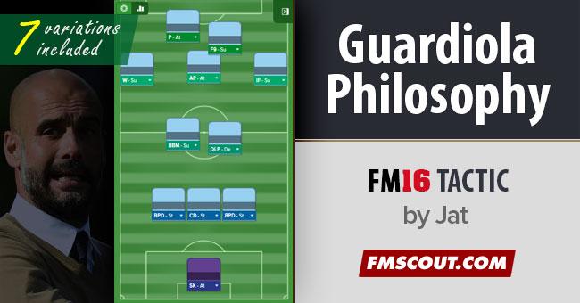 Josep Guardiola Philosophy Tactics FM16 | FM Scout