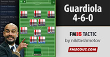 Guardiola Tiki-Taka 4-6-0 Tactics FM16
