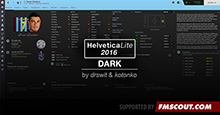 HelveticaLite Dark Skin for FM16