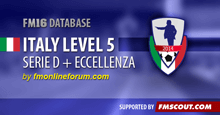 Italy Serie D & Eccellenza for FM16