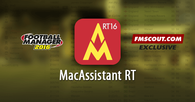 FM 2016 Tools - MacAssistant RT for FM16 - Exclusive