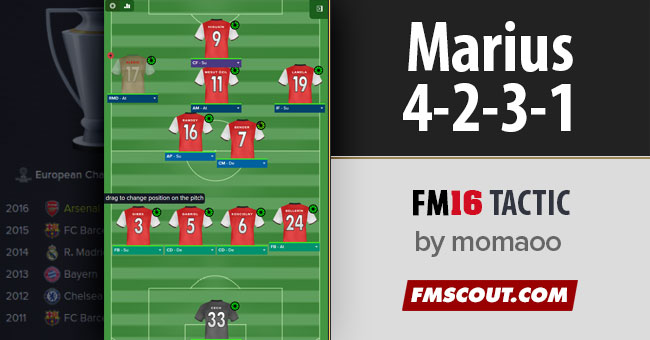 Marius 4-2-3-1 for FM 2016 by Momaoo