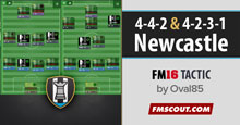 Oval85 FM16 Tactics for Newcastle