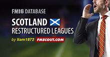 Scotland Restructured Leagues for FM16