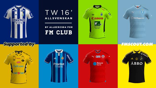 Tw 15 Kits Sverige Allsvenskan 2015 16 Fm Scout