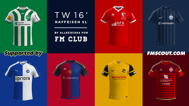 FM 2016 Club Kits - TW'15 kits - Swiss Super League 2015/16