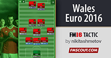 Coleman's tactics with Wales at Euro 2016