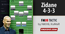 Zinedine Zidane's 4-3-3 Tactics for FM16