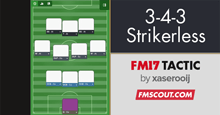3-4-3 Strikerless - FM17 Tactic