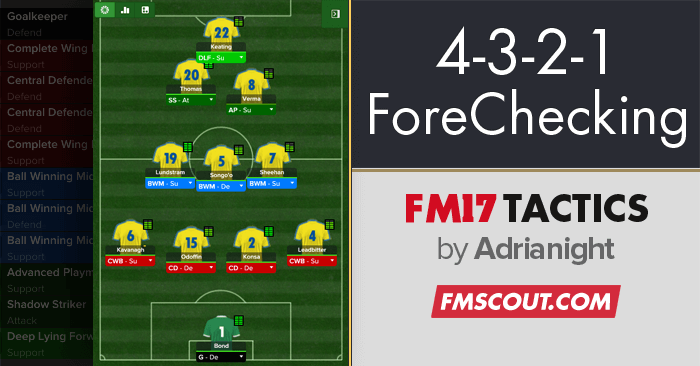 Football Manager 2017 Tactics - 4-3-2-1 ForeChecking FM17 Tactic