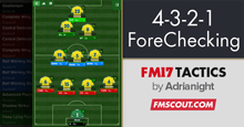 4-3-2-1 ForeChecking FM17 Tactic