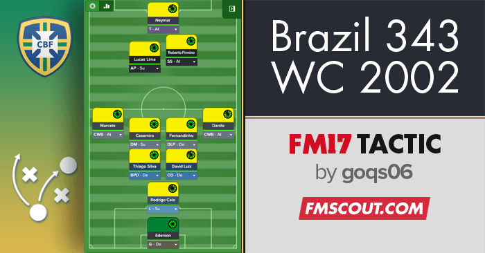 Football Manager 2017 Tactics - Brazil World Cup 2002 Winning Tactic