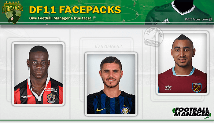 Football Manager 2017 Facepacks - DF11 Faces 2017-2018