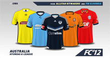 Australia Hyundai A-League kits 2016/17