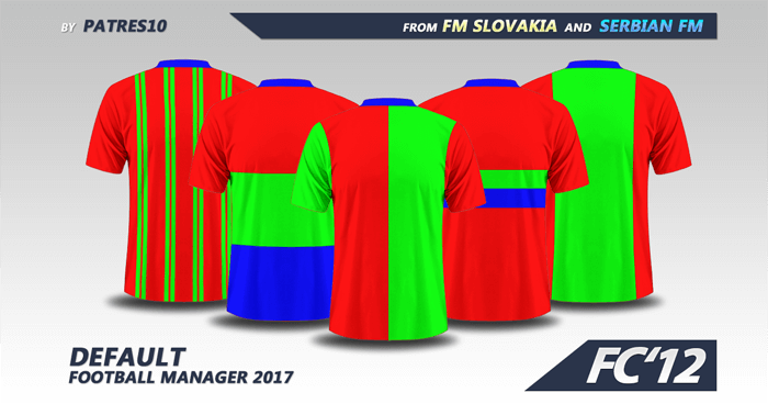 Football Manager 2017 Kits - FC'12 Default Kits for FM2017