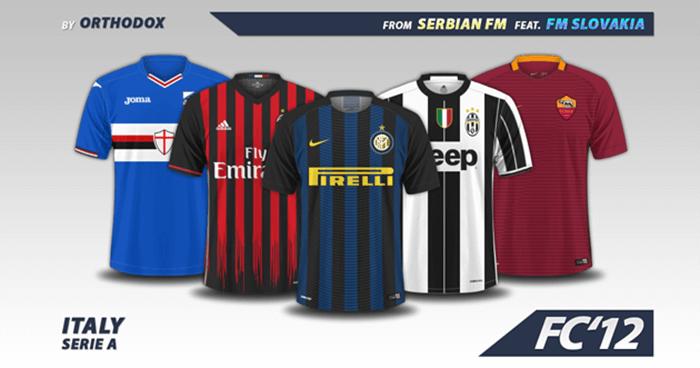 Football Manager 2017 Kits - Italy Serie A Kits 2016 17 2d943e529