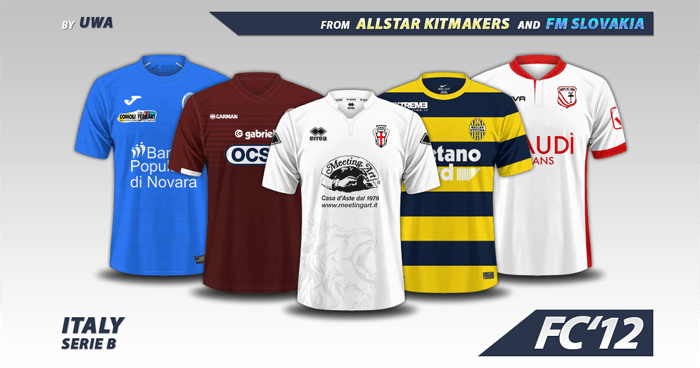 Football Manager 2017 Kits - Italy Serie B 2016/17 kits