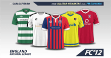 England National League 2016/17 kits