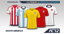 South America Nations 2016 kits