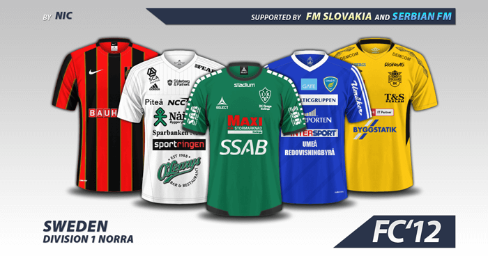 9f8e230c276 Football Manager 2017 Kits - Sweden Division 1 – Norra kits 2016