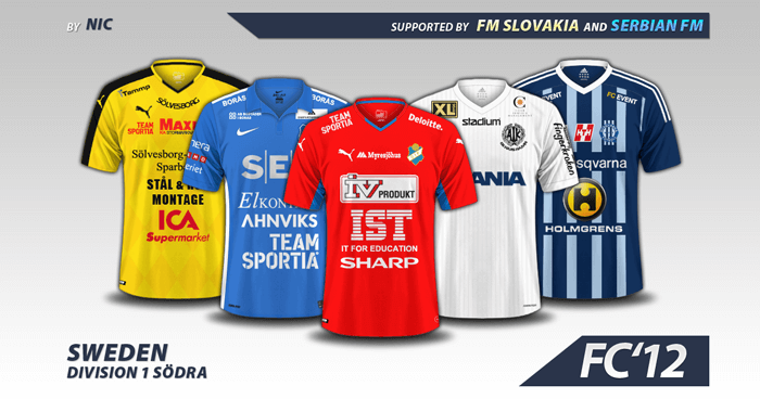 17435a2c92b Football Manager 2017 Kits - Sweden Division 1 – Sodra kits 2016