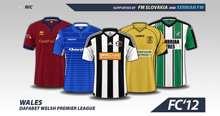 Wales Dafabet Premier League 2016/17 kits