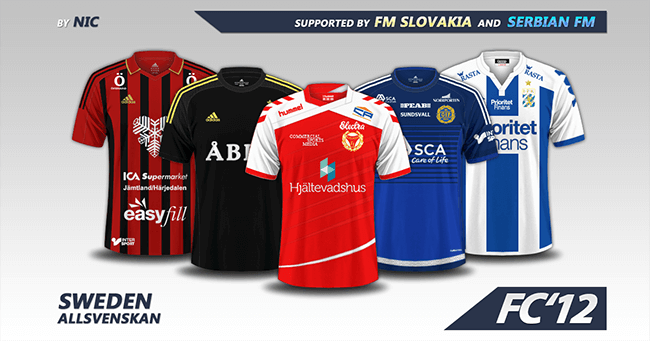 Sweden Allsvenskan Kits 2016 Fm Scout