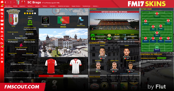 Football Manager 2017 Skins - FM 2017 FLUT skin dark - Final Version