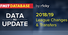 FM17 2018/19 League + Transfer Update by RD
