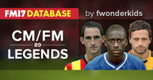 Championship & Football Manager Legends - FM 2017 Database