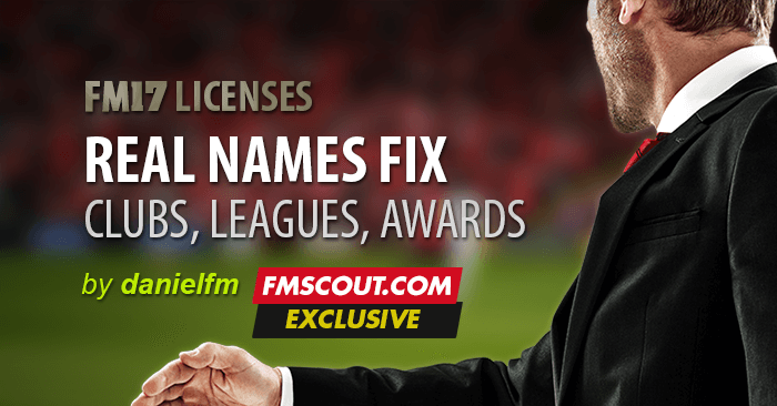 Football Manager 2017 Data Updates - Football Manager 2017 Real Names License Fix