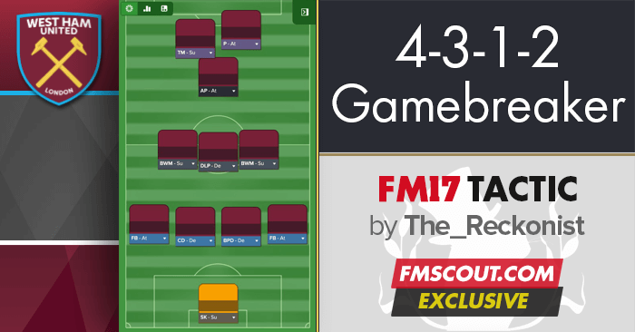 Football Manager 2017 Tactics - 4-3-1-2 Gamebreaker FM17 Tactic