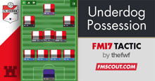 thefwf's 4-3-2-1 Underdog Possession FM17 Tactic