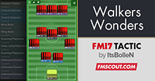 FM 2017 Tactic: 4-3-3 Walkers Wonders