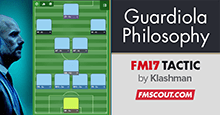 Guardiola's Philosophy CTW - FM17 Tactic