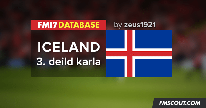 Football Manager 2017 League Updates - Iceland Lower Leagues for FM17
