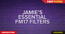 Jamie's Essential Football Manager 2017 Filters