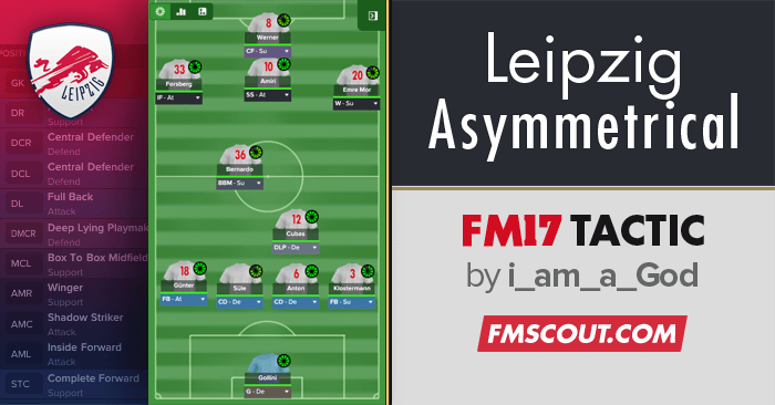 Football Manager 2017 Tactics - Ofonime's RB Leipzig Asymmetrical FM17 Tactic
