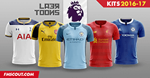 Laer-Toons: Premier League kits 2016-17