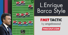 Luis Enrique Barca Inspired FM17 Tactic