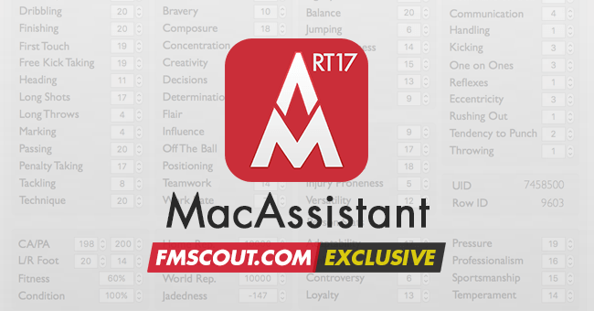 Football Manager 2017 Tools - MacAssistant RT for FM17