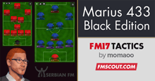 Marius 4-3-3 Black Edition FM17 Tactics