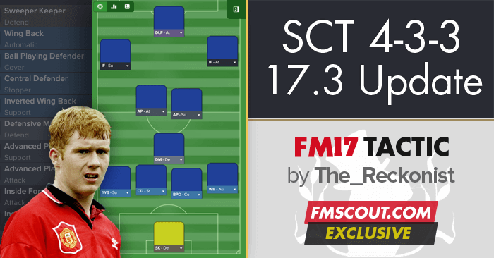 Football Manager 2017 Tactics - SCT 4-3-3 / 4-5-1 Attacking Possession - 17.3 Update