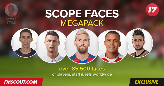 Football Manager 2017 Facepacks - FM Scope Facepack 2017