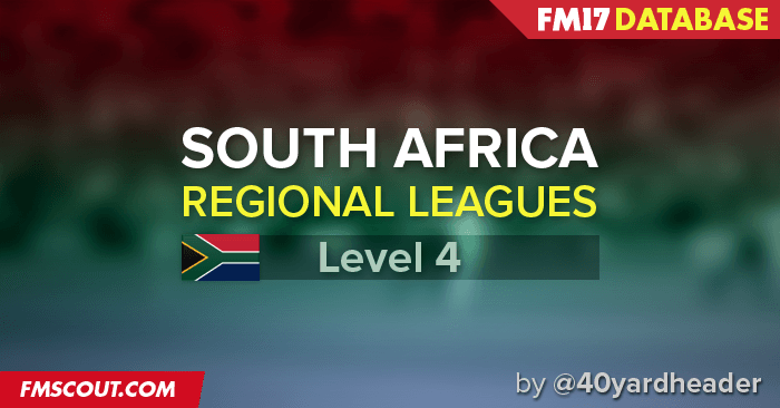 Football Manager 2017 League Updates - South Africa Regional Leagues for FM17