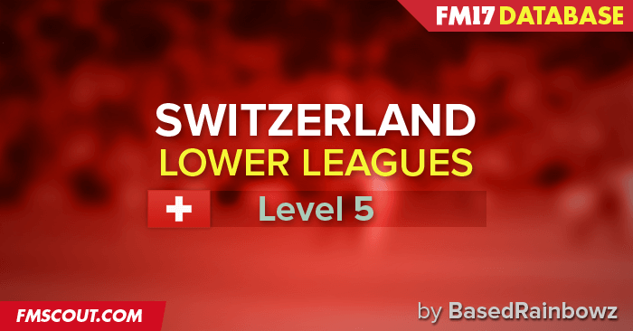 Football Manager 2017 League Updates - Switzerland Lower Leagues for FM 17