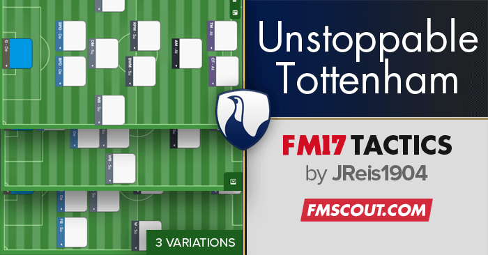 Football Manager 2017 Tactics - Unstoppable Tottenham - FM17 Tactics