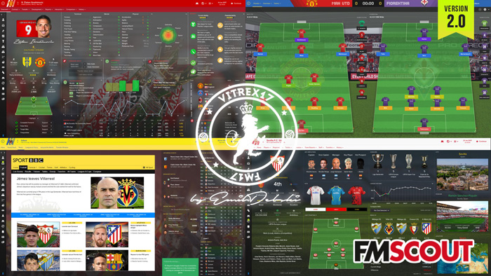 Football Manager 2017 Skins - Vitrex17 v2.0 (updated 1/1-2017)