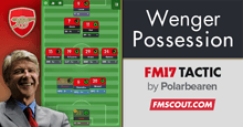 Wenger 3-4-3 Possession FM17 Tactic